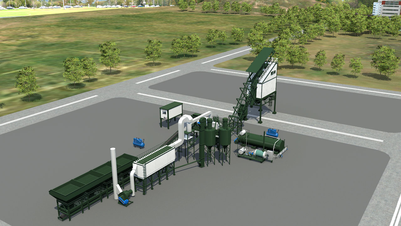 Low Cost Asphalt Production Equipment