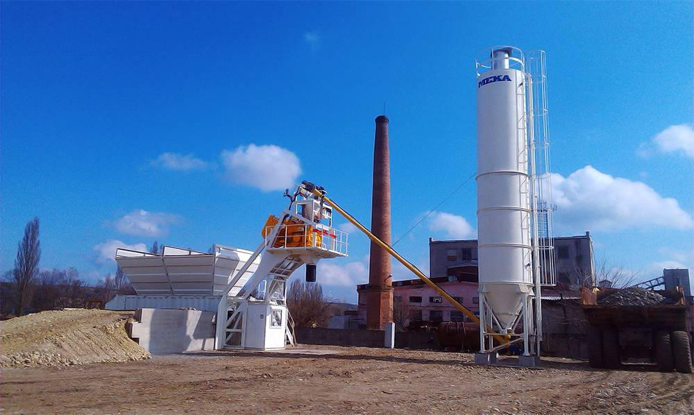 Mini Batching Plant : Mini compact concrete plants meka